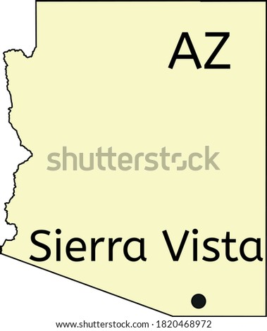 Sierra Vista city location on Arizona map