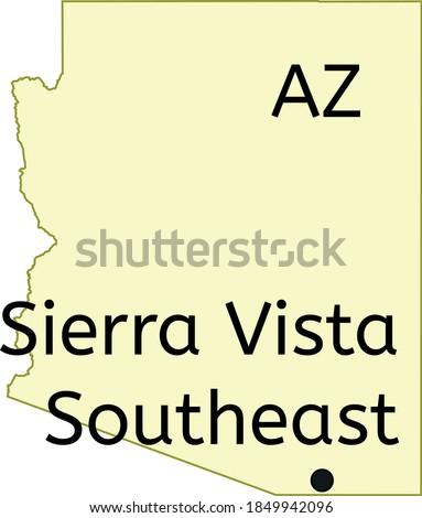 Sierra Vista Southeast census-designated place location on Arizona map