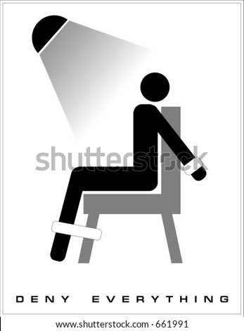 """Sigh """"Deny Everything"""" - stock vector"""