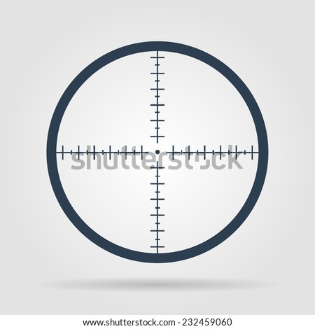 sight device icon flat design