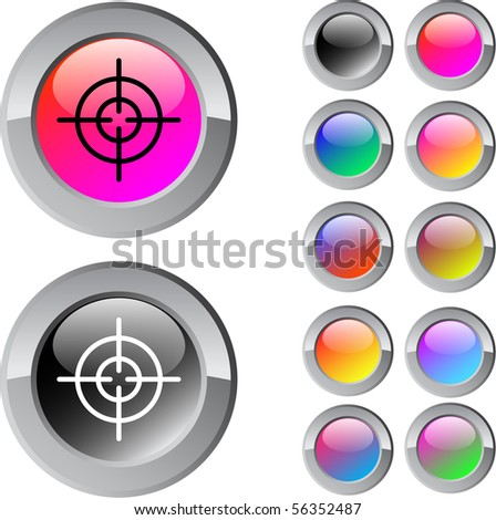 Sight multicolor glossy round web buttons.