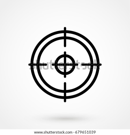 sight vector icon