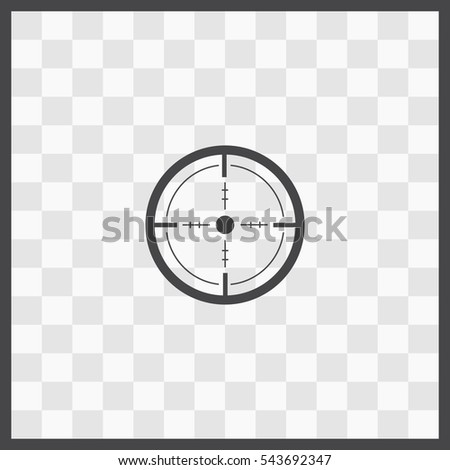 sight vector icon isolated