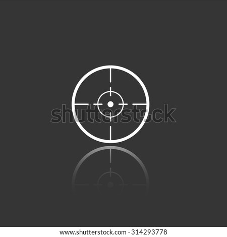 sight vector icon with mirror