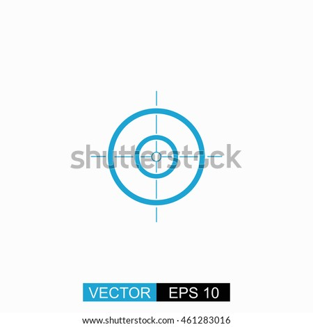 sight vector isolated blue