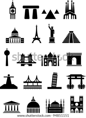 sights - stock vector