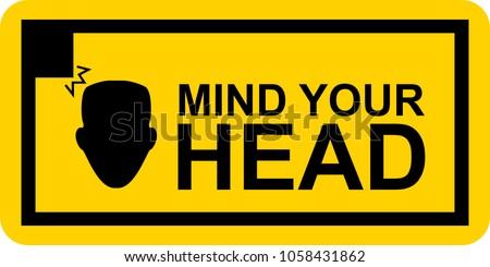 sign artwork mind your head