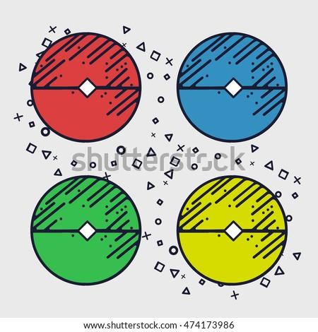 sign ball colored symbol