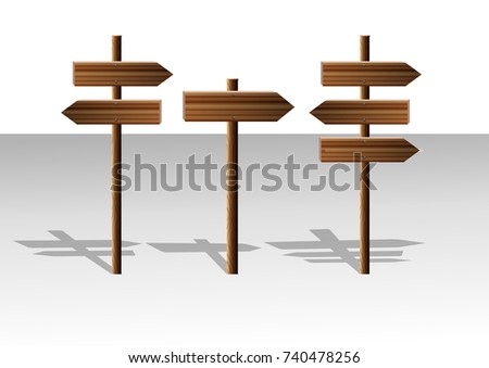 Sign, direction sign, wooden sign.