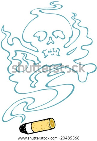 "Sign ""Don't smoke too much!"" -- illustration for posters, cards and any design"