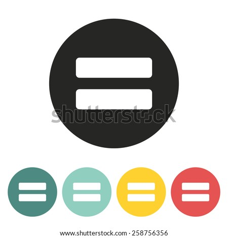 Sign equally icon.Vector illustration.