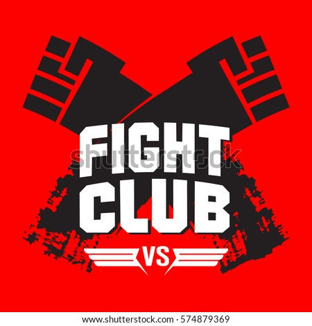 sign fight club vector