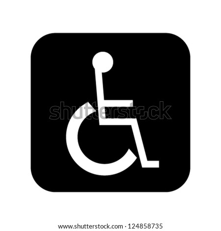 sign for disabled person vector illustration