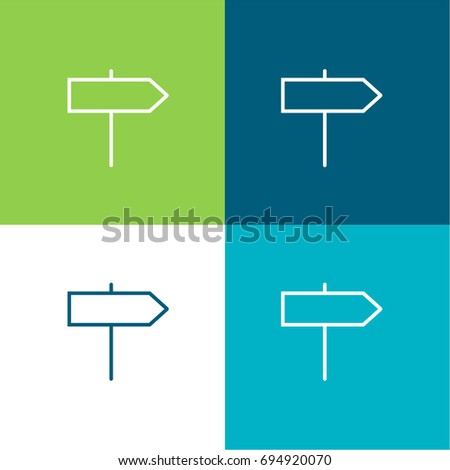 Sign green and blue material color minimal icon or logo design #694920070