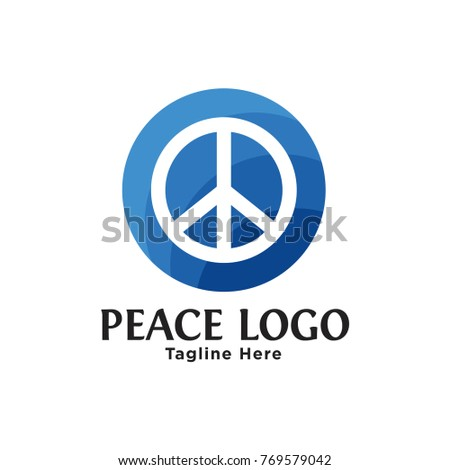 Sign hippie peace icons set in flat for web