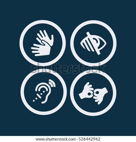 sign language icon blind icon...