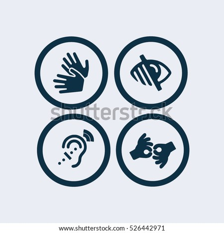 Sign language icon,blind icon.deaf icon.disabled icon, Web Application Icons, Accessibility Icons,signing icon,vector