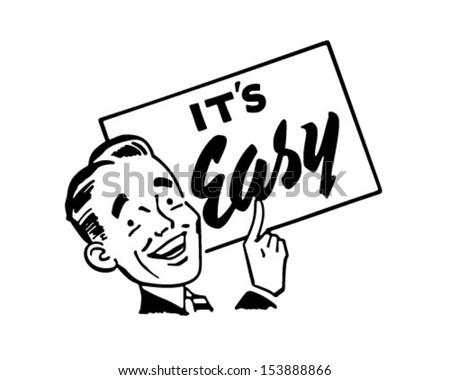 Sign Man - Retro Clip Art Illustration