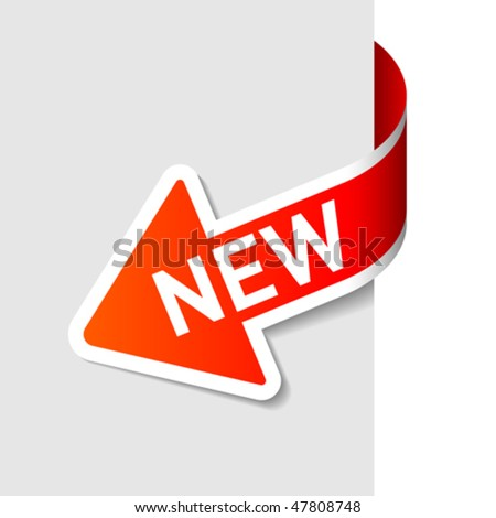 new image. stock vector : Sign New. Vector.