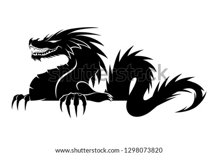 sign of a black dragon on a