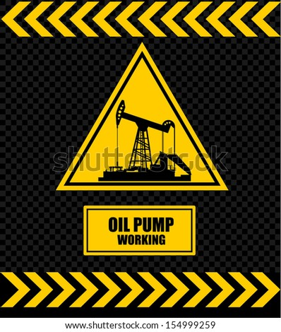 sign of an oil pump, sign