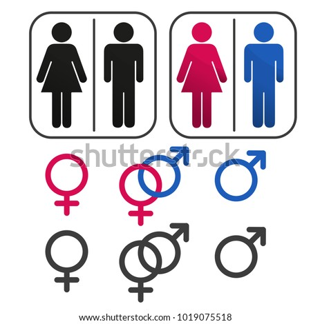 sign of gender male and female