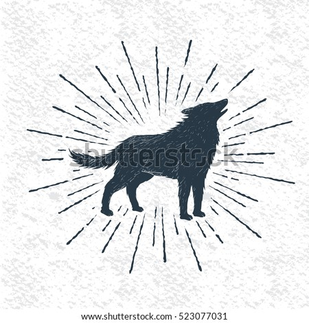 sign of howling wolf isolated
