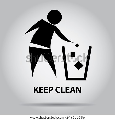 sign of keep clean  symbol