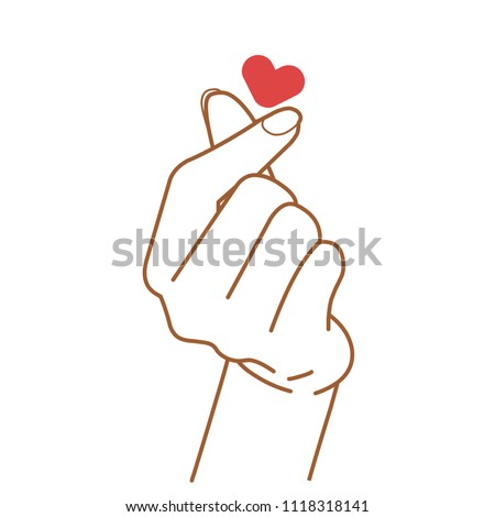 sign of love vector hand drawn