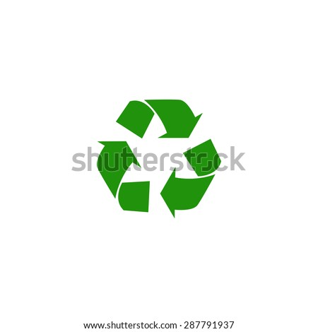 Sign of recycling. recycling. Waste recycling. Environmental protection. Vector