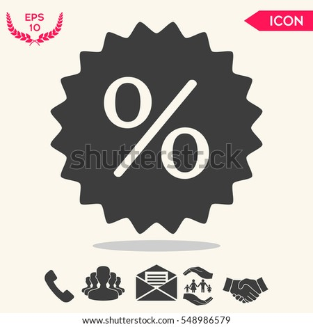 Sign, percent symbol discount icon