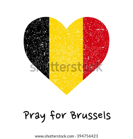 sign pray for brussels  heart
