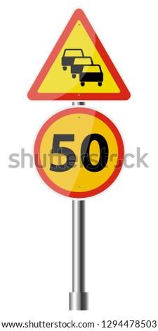Sign Road Works #1294478503