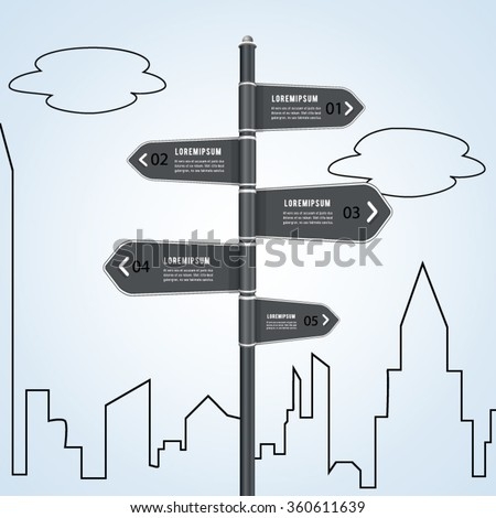 Sign street concept infographic.