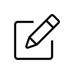 Sign up Icon vector. Edit icon vector. Pencil icon.