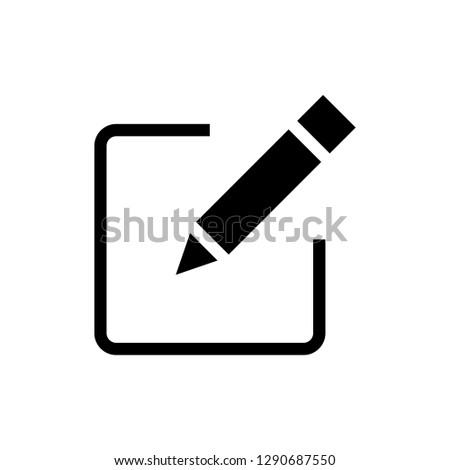 Sign up Icon vector. Edit icon vector. Pencil icon. #1290687550