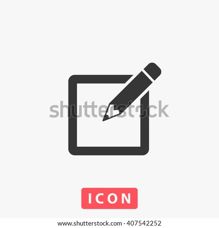 sign up Icon vector. Simple flat symbol. Illustration pictogram