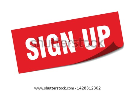 sign up square sticker. sign up sign. sign up banner