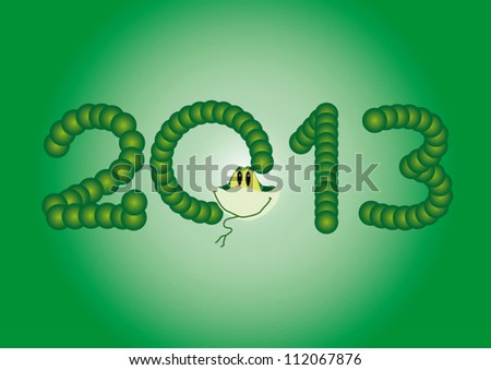Sign 2013 year of the snake design