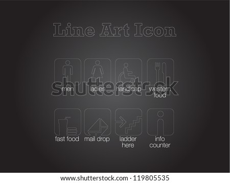 Signage Icon for Mall