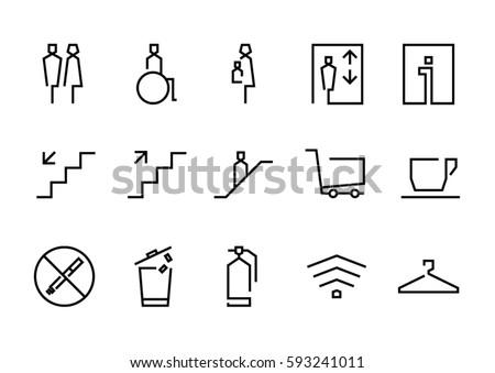 Signage line icon