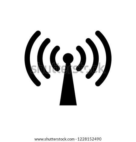 Signal Antena icon vector