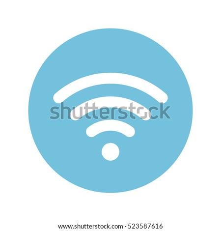 Signal icon flat