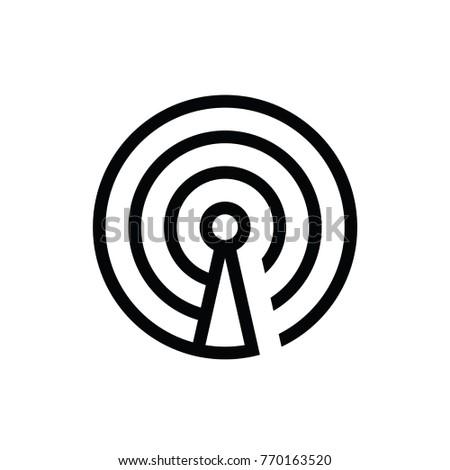 signal icon logo vector