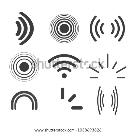 Signal icons vector set icon