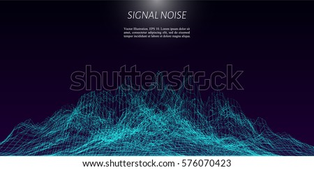 Signal noise vector illustration for technical background.