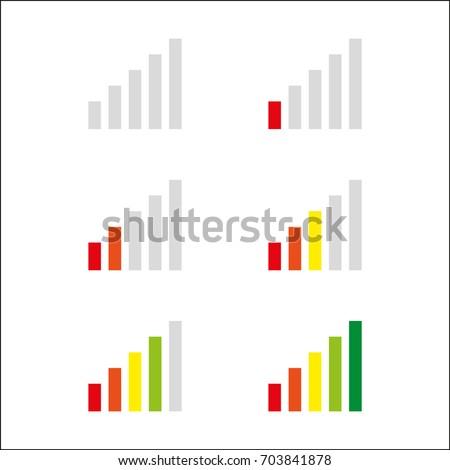 Signal strength indicator template.