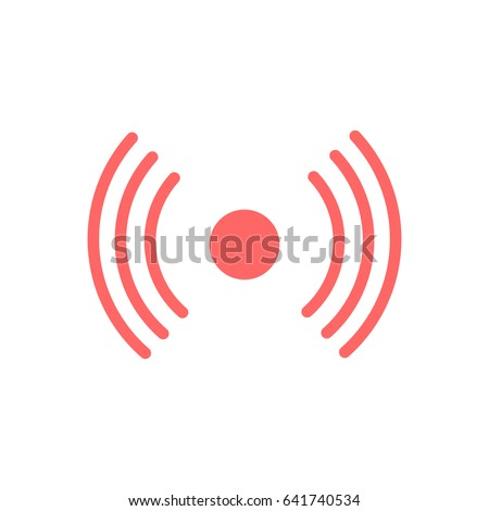 Signal vector in live video streaming equipment concept.