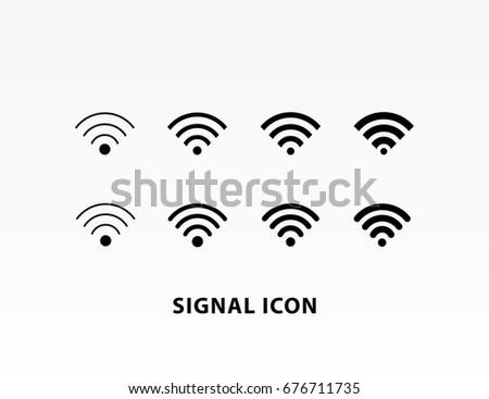 Signal wifi icon set vector illustration.