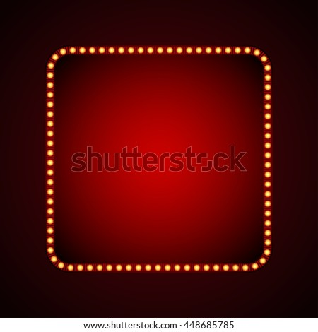 signboard for text with light